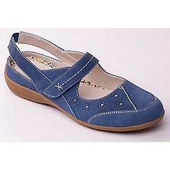 Padders - Blue 'Donna' slingback women's leather shoes