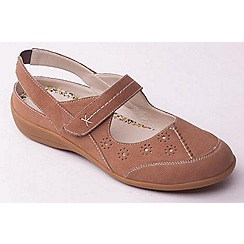 Padders - Beige 'Donna' slingback women's leather shoes