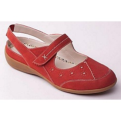 Padders - Red 'Donna' slingback women's leather shoes