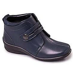Padders - Navy 'Shirley' women's leather boots