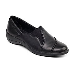 Padders - Black 'Ruth' leather shoe