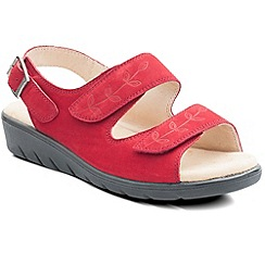Padders - Red 'Nutmeg' womens leather sandals
