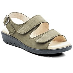 Padders - Olive 'Nutmeg' womens leather sandals
