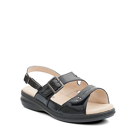 Padders - Black +Laura+ womens leather sandals
