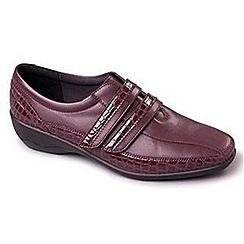 Padders - Wine 'Velvet' women's leather shoes