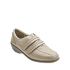 Padders - Taupe/Camel 'Velvet' women's leather shoes