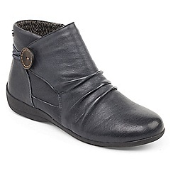 Padders - Navy 'Carnaby' womens leather ankle boots