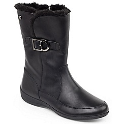 Padders - Black 'Camden' womens leather ankle boots