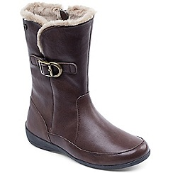 Padders - Brown 'Camden' womens leather ankle boots