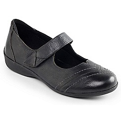 Padders - Black Combi 'Dwell' touch and close shoe