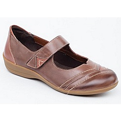 Padders - Light Brown 'Dwell' touch and close shoe