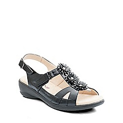 Padders - Black 'Paris' womens leather sandals
