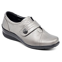 Padders - Gunmetal 'Simone' touch and close shoe