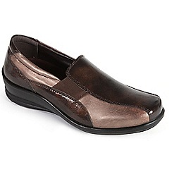 Padders - Metallic Combi 'Skye' slip on shoe