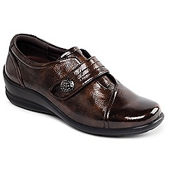Padders - Brown 'Simone' touch and close shoe
