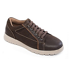 Padders - Brown 'React' tie shoe