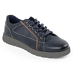 Padders - Navy 'React' tie shoe