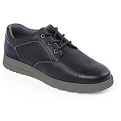 Padders - Black Combi 'Regain' tie shoe