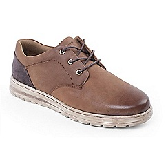 Padders - Tan Combi 'Regain' tie shoe