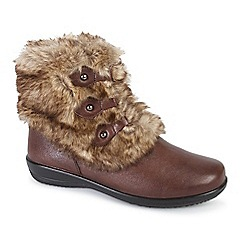 Padders - Brown 'Kim' womens leather ankle boots