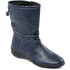 Padders - Navy 'Regan' Calf Boot