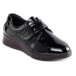 Padders - Black Patent 'Release' touch and close shoe