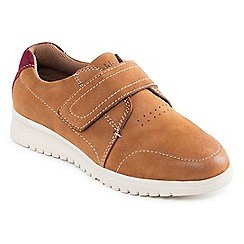 Padders - Tan Combi 'Release' touch and close shoe