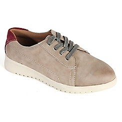 Padders - Taupe 'Re-Run' lace shoe