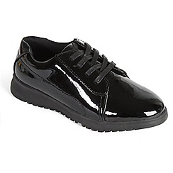 Padders - Black Patent 'Re-Run' lace shoe