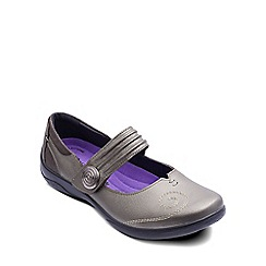 Padders - Pewter 'Poem' womens mary jane shoes