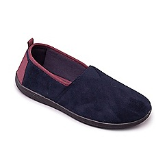 Padders - Navy 'Blake' men's memory foam slippers
