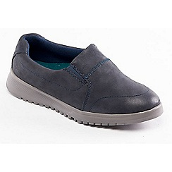 Padders - Navy 'Retreat' slip on shoes