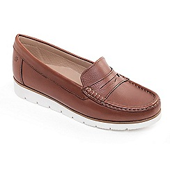 Padders - Tan leather 'Nola' wide fit moccasins