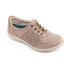Padders - Camel leather 'Harp' wide fit lace up shoes
