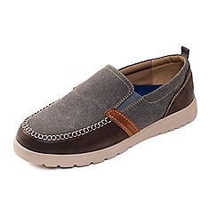 Padders - Light brown 'Repeat' wide fit slip on shoes
