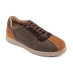 Padders - Light brown 'Rewind' wide fit lace up shoes