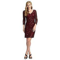 Ariella London - Merlot roseanna long sleeve short dress