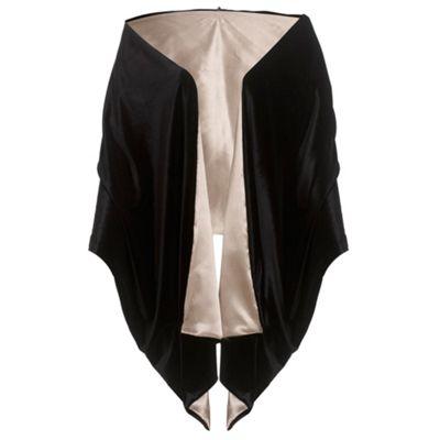 Ariella London Black/Champagne Kara Velvet Stole - . -