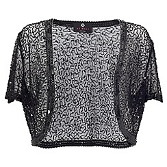 Ariella London - Black vera sequin & beaded bolero