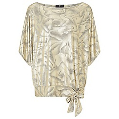 Ariella London - Gold 'Lux' jersey batwing top