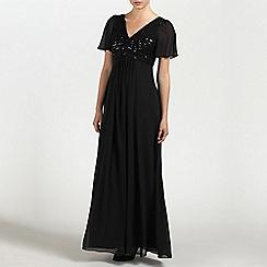 Ariella London - Black Ava Embellished chiffon long dress