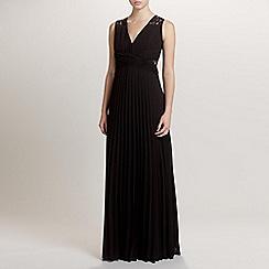 Ariella London - Black Lucy Pleated Long Dress