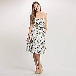 Ariella London - Multi Amber Crinkled Chiffon Short Dress