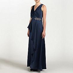 Ariella London - Navy Daphne Satin Long Dress