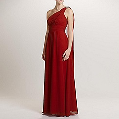 Ariella London - Red Celia Chiffon Long Dress