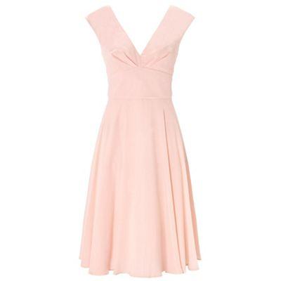 Ariella London Dusky pink anthea chiffon short dress - . -