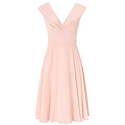 Ariella London - Dusky pink anthea chiffon short dress