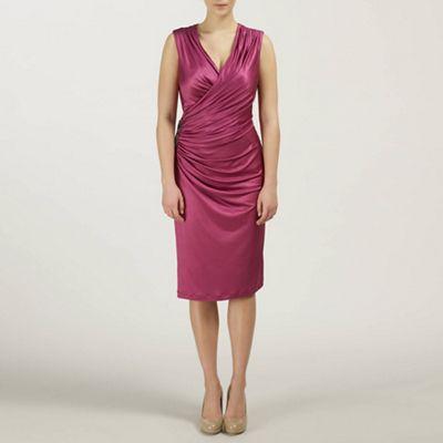 Ariella London Magenta Alexia Jersey Short Dress - . -