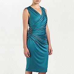 Ariella London - Teal Alexia jersey short dress