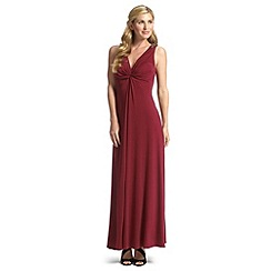 Ariella London - Merlot ursula twist front maxi dress
